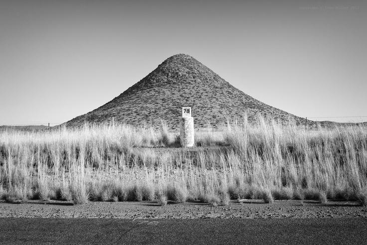 ...a symmetrical mountain near Bethulie...
