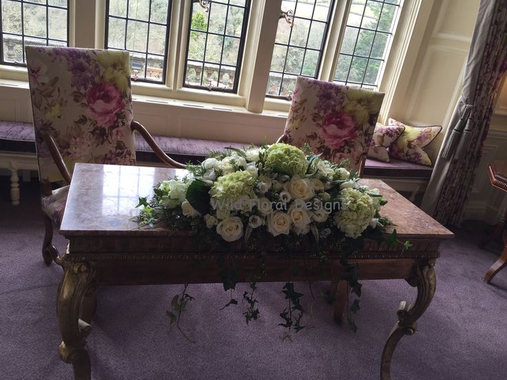 Ceremony flowers, Bovey castle wedding.