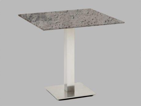 Hochwertiger, Quadratischer Bistro Tisch Nick 80 In Beton Optik Von Niehoff    Hier Sicher Und Bequem Online Bestellen.
