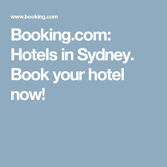 Booking.com:  Hotels in Sydney.  Book your hotel now!
