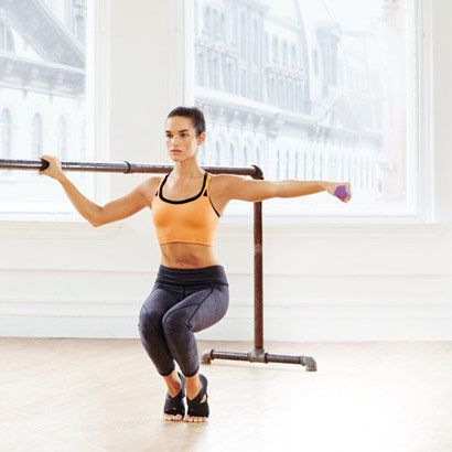 Firm Fast With 6 Simple Ballet-Inspired Moves | Parallel Quad Burner: Works core, quads, calves