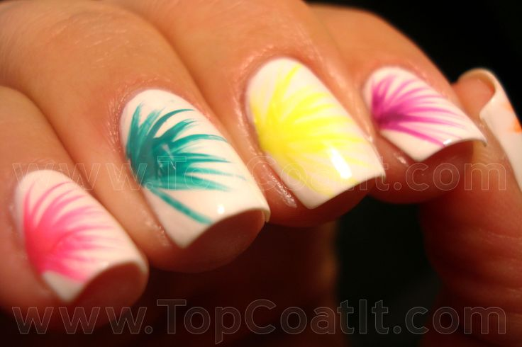 Neon Bursts. NYX Girls White, NYX Girls Pink Strawberry, NYX Girls Bubble Gum and NYX Girls Hot Orange.  Then Milani Rad Purple and Milani Fresh Teal.: Nails Art, Awesome Nails, Nails Design, Neon Burst, Bubbles Gum, Pretty Nails, Nails Ideas, Neon Nails, Nails 3