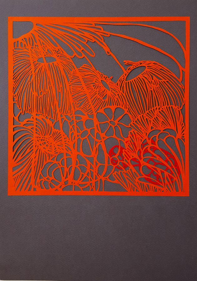 Papercut art Flowers#4