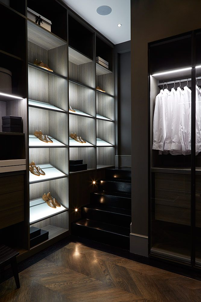 Lighting For Walk In Closet Home Decor Ideas For A Dark And Luxurious Interior Lighting Walk In Closet E