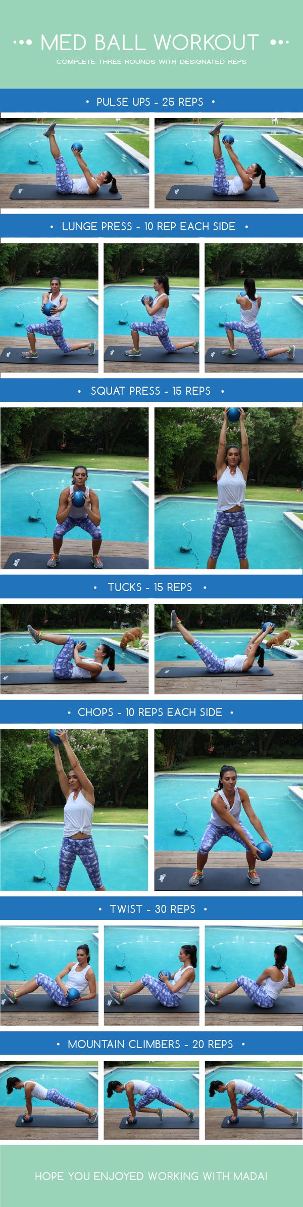 Full Body Med Ball Workout | The Defined Dish
