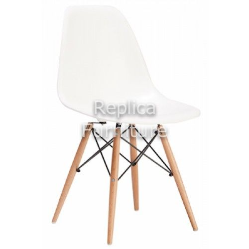Replica Charles Eames Dining Chairs (Wood Legs)