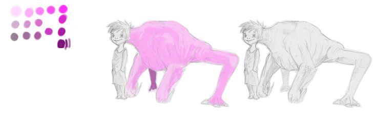 The Secret Beast-Concept by Christophe Slussareff. Work in in progress.