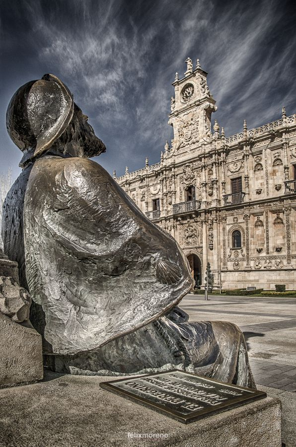 The Pilgrim - Leon, Spain.  ** I hope to see this for myself since my grandfather was born in Leon.