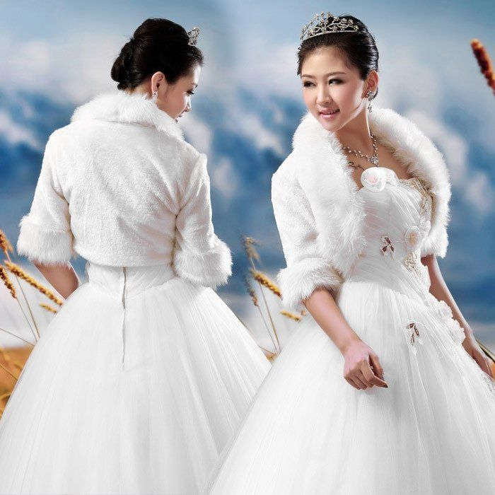 Wedding Bolero Jacket Quality Directly From China Evening Wraps Suppliers Winter Faux Fur Bridal Shurg
