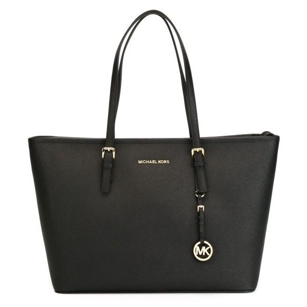 Michael Michael Kors Jet Set Travel Medium Shopping Bag (22,755 INR) ❤ liked on Polyvore featuring bags, handbags, tote bags, genuine leather tote, travel purse, travel tote, leather handbag tote and shopping bag
