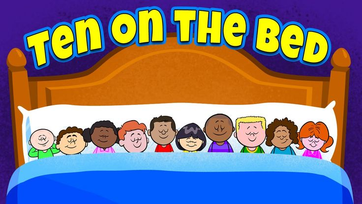 """Ten on the Bed"" by The Learning Station: Your children will love this delightfully animated rhyme. This song teaches early math skills and is ideal for morning meeting, indoor recess, brain breaks and group activities."