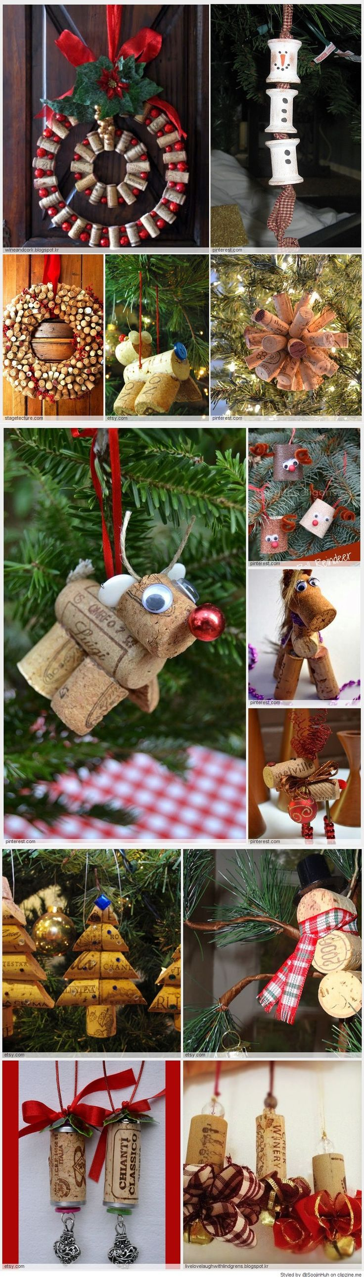Easy Cork Christmas Ornaments 68 best ornaments