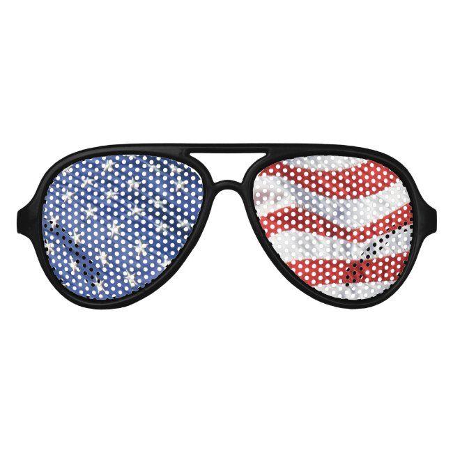 American Flag Waving Stars And Stripes Usa Aviator Sunglasses Zazzle Com In 2020 American Flag Waving American Flag Stripes