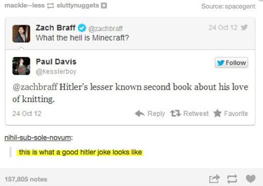 I have to admit, this one is pretty clever. Minecraft. *snicker*