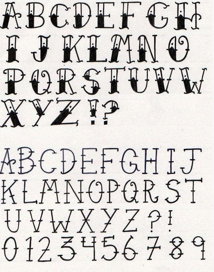 Tattoo Lettering Fonts Cursive Old School