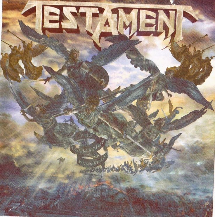 Testament Band STICKER Album Art Heavy Metal Music Decal Formation of Damnation