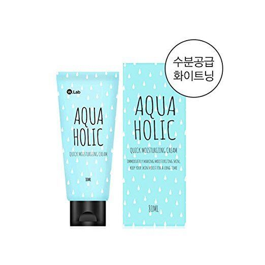 W.Lab Aqua Holic Whitening Quick Moisturizing Gel Cream +Free gift Korean Beauty #WLab