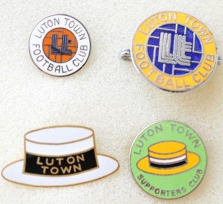 Редкие, очень старые, эмалевые знаки английский профессиональных футбольных клубов: ФК Лутон Таун