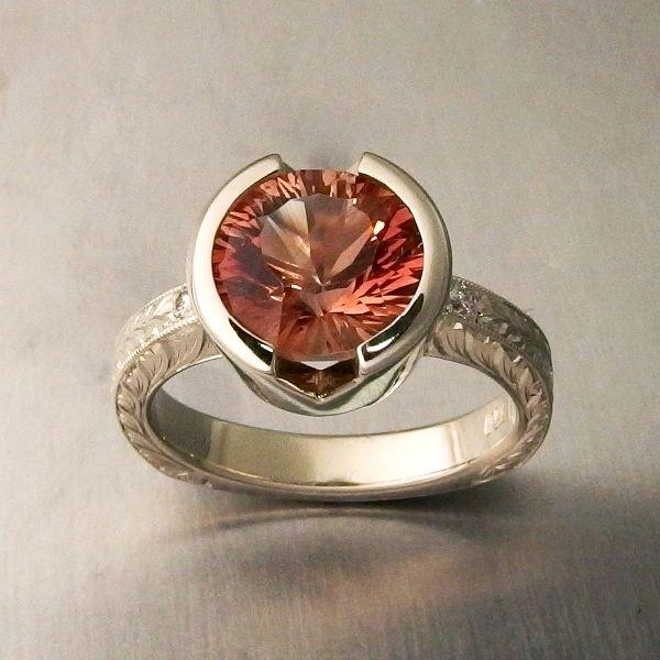 Lasso Bezel Set Sunstone Ring In 2019 Sunstone Bridal