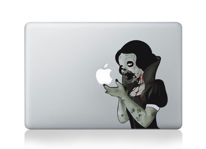 Zombie Snow White Mac Decal Macbook Stickers by HappyDecal.