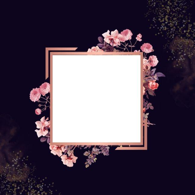 Beautiful Floral Frame Floralframe Rosegold Glitter Png Transparent Clipart Image And Psd File For Free Download Rose Frame Floral Border Design Happy Birthday Floral