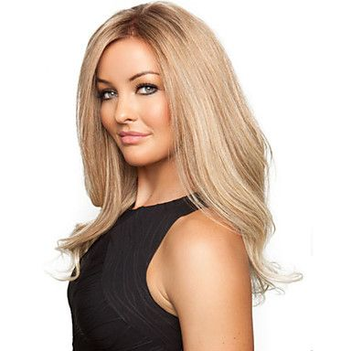 Fashionable+Sweet+Gloden+Medium+Length+Curly+Synthetic+Hair+Wig+–+USD+$+15.09