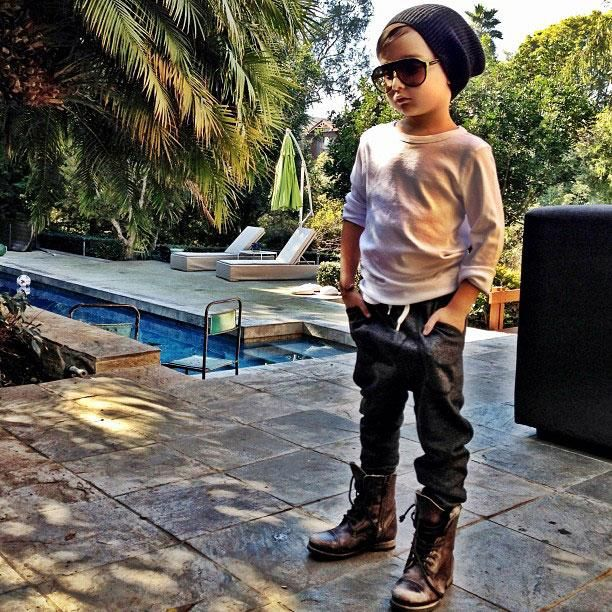 Marc Jacobs beanie, H shirt and pants, AllSaints boots | Alonso Mateo, The 5-Year-Old Boy Who's Become an Instagram Style Icon - The Cut