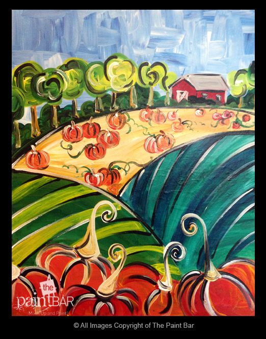 Funky Pumpkin Patch - Jackie Schon, The Paint Bar