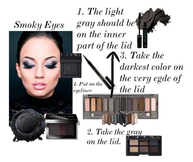 """""""Smokey eye"""" by fashioncopasser ❤ liked on Polyvore featuring beauty, Elizabeth Arden, Urban Decay, Bobbi Brown Cosmetics and NARS Cosmetics"""