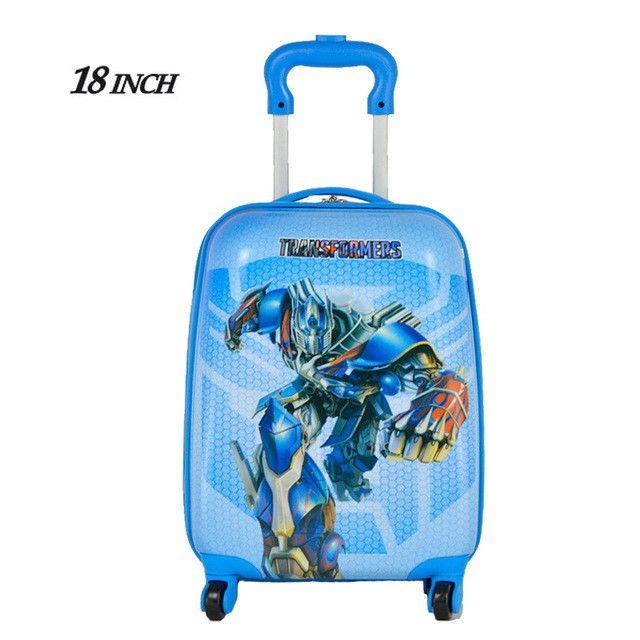 18inch 2016 NEW Cartoon boy Children Suitcase,Child Boy Girl Princess Cat ABS trolley case Traveller Pull Rod Trunk
