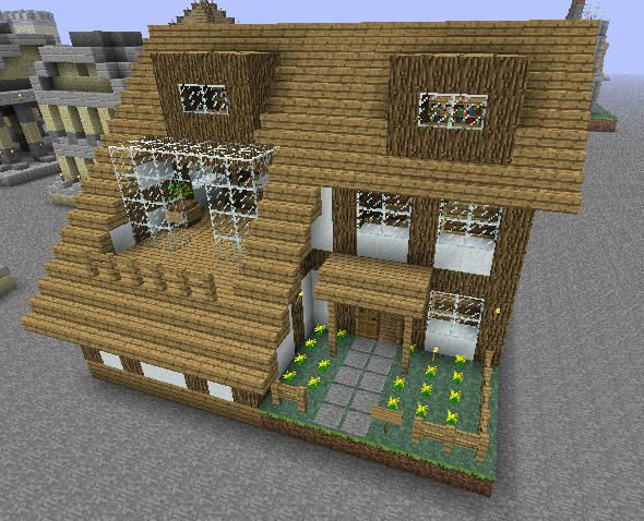 the minecraft small house project was contributed by brauhausderhoffnung one of our earlier buildings for pasting on other maps build on map 2 in halmar - Minecraft Design Ideas