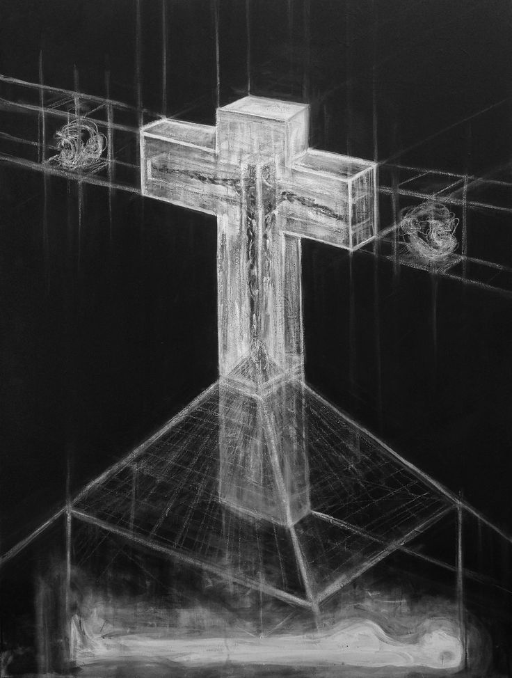 """The Resurrection of Evolution, 2016""  Acrylic on Canvas. By Jordan Devlin.  https://www.jordandevlin.com"