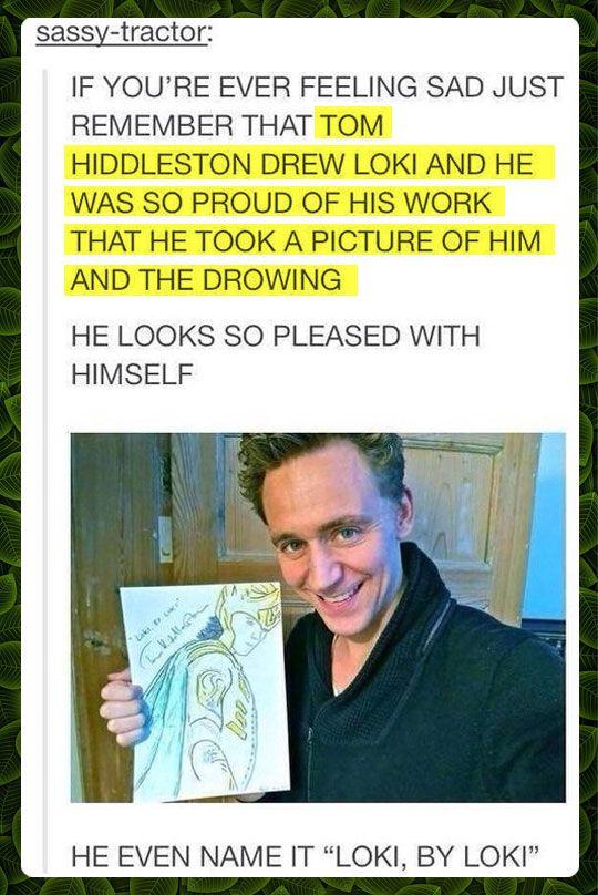 Loki, by Loki. ♥Tom Hiddleston♥