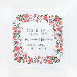 save the date hankies | the wedding chicks