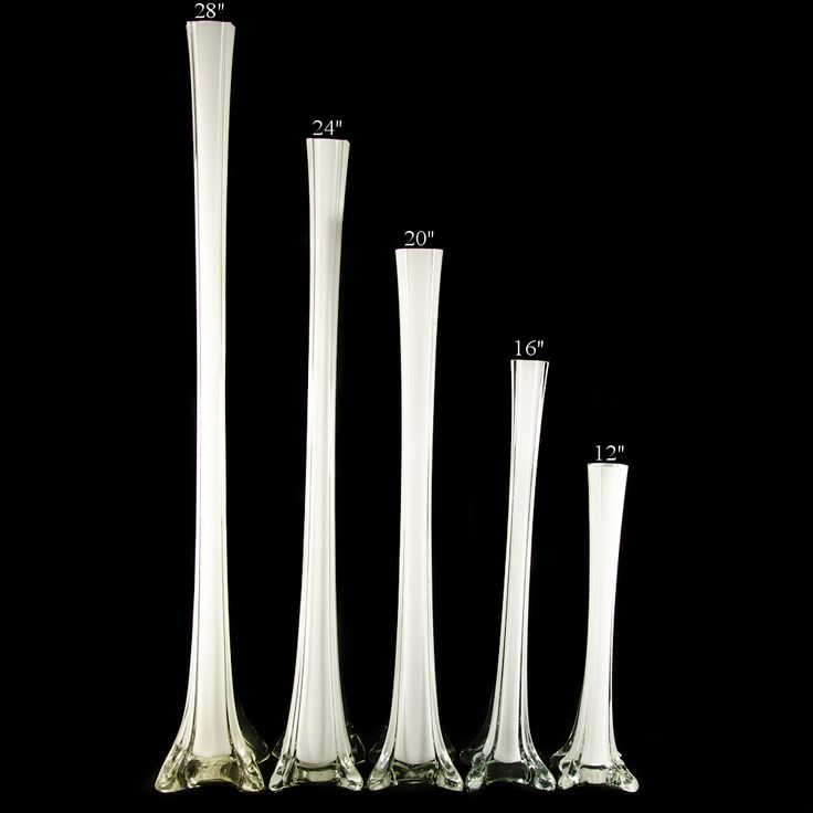 28 Glass Eiffel Tower Vase In Clear White Black Discount Wholesale Eiffel Vases And Supplies