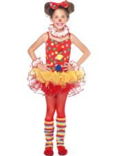 Girls Circus Clown Costume-Party City