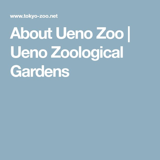 About Ueno Zoo | Ueno Zoological Gardens