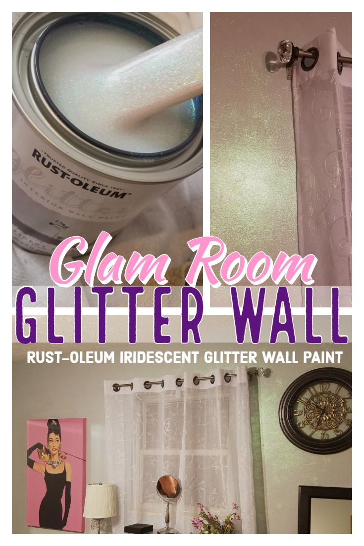 Glam Room Glitter Wall Glitter Accent Wall Glitter Paint For