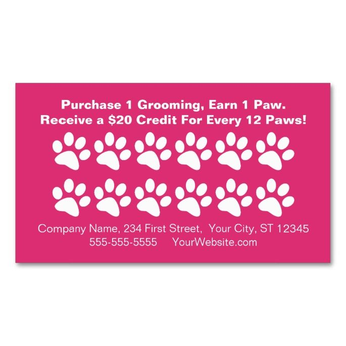 1570 best Customer Loyalty Card Templates images on Pinterest - sample appointment card template