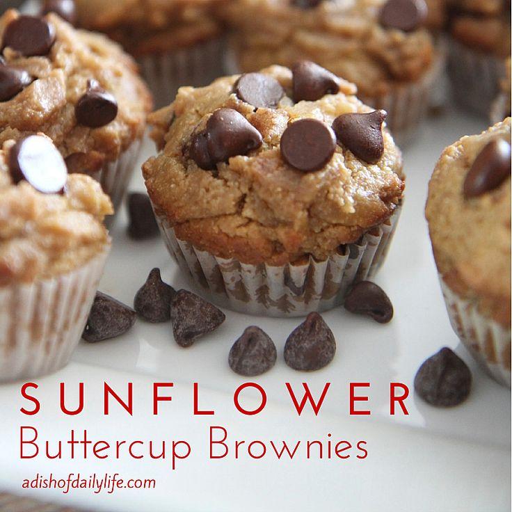 Gluten Free Vegan Sunflower Buttercup Brownies