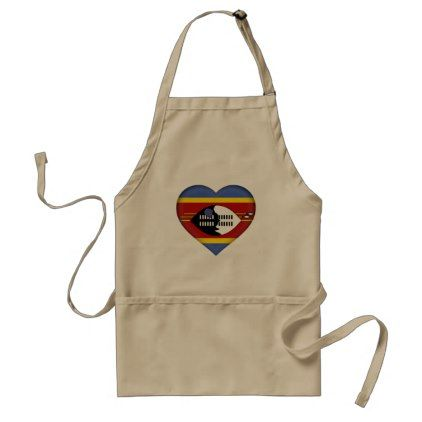 #country - #Swaziland Flag Adult Apron