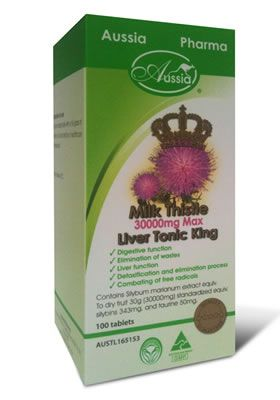 Liver Tonic King - Milk thistle 30000mg  Maintain the digestion function Protect liver against harmful toxin damage like alcohol, Drug, Chemicals. Improve liver function  http://www.purenaturalhealth.com.au/products.php?psid=206&gtitle=detox