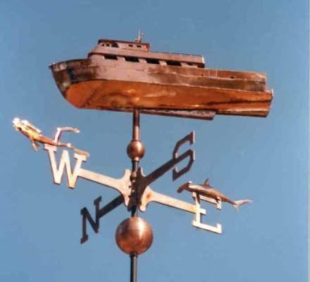 dive boat weather vanes by west coast weather vanes this handcrafted dive boat weathervane was - Weather Vanes