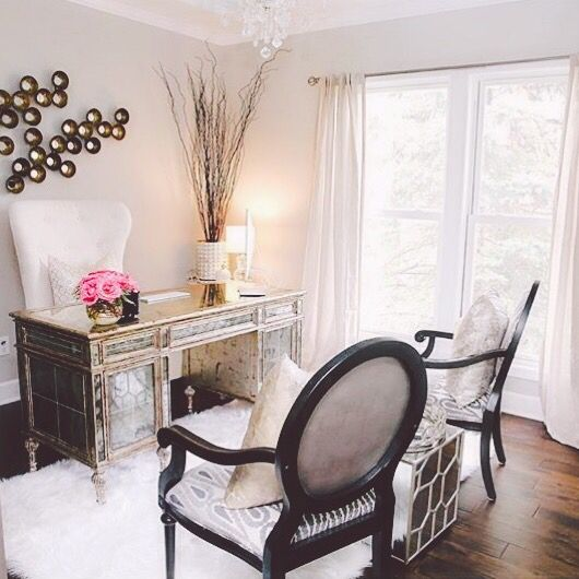 Pin by ahlam on home sweet home pinterest office for Elegant home office decorating ideas