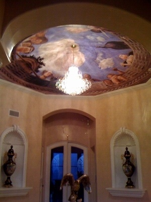 Ceiling Of The Camera Picta Wallpaper Mural