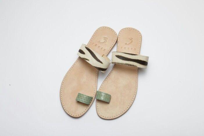 athina veraman ( handmade leather sandal ) with pony skin   www.treis.gr