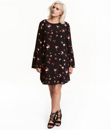H&M+ Gemustertes Kleid | Schwarz/Gemustert | Damen | H&M ...
