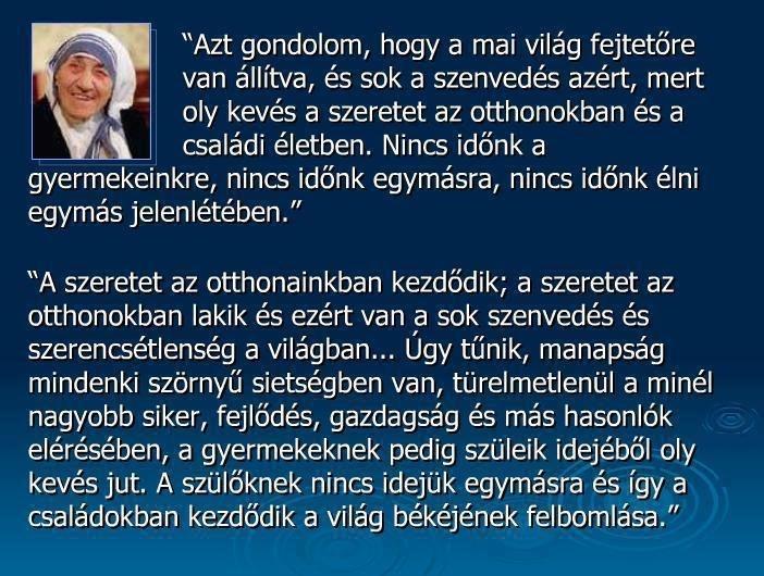 Teréz anya MicraAttitude Magyarország