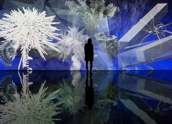 Interactive Virtual-Reality Installations by Miguel Chevalier
