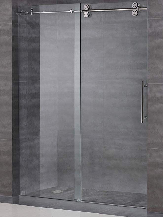 Strongar Frameless Sliding Shower Door Hardware Kit Glass Door Not Included Brushed Satin Fini Shower Door Hardware Shower Doors Frameless Sliding Shower Doors